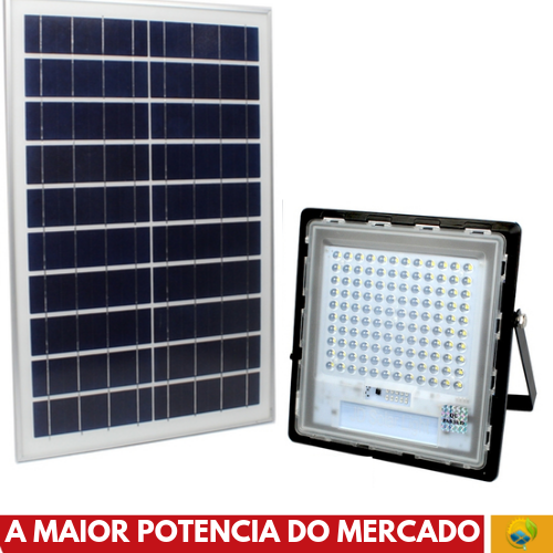 Refletor Solar 300 Watts LED 800 Watts Equivalente