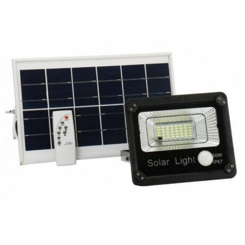 Refletor Solar 50 Watts LED - Sensor - IP67