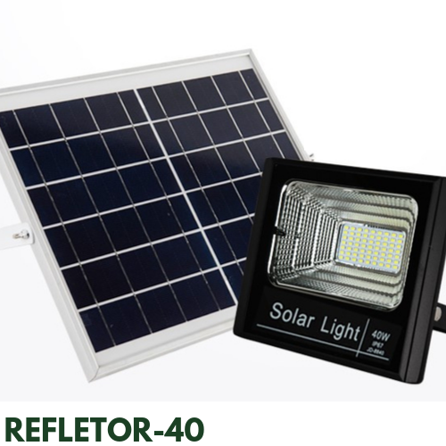 Refletor Solar 40 Watts LED 300 Watts Equivalente